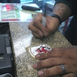 Bruce Perry signing Maryland Rookie Card