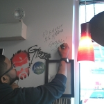 Bruce Perry Signing the Wall of Fame