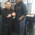 Chef Rodrigo with RB Bruce Perry Eagles